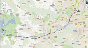 Atstumai tarp europos miestu